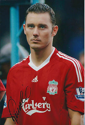 Fabio AURELIO Signed 12x8 Photo AFTAL COA Autograph Liverpool Anfield LEGEND
