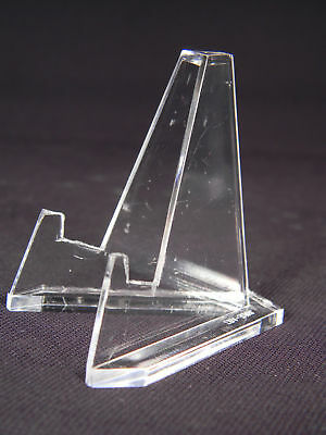 Lot 3 Acrylic Easel Display Stand For - Artifacts - Collectibles - Fossils