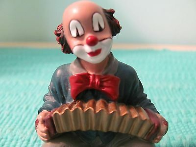 """Collectible Clown - Gilde Clowns Comedy Collection """" Accordion Player """" MINT"""