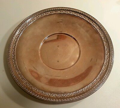 Reed & Barton SilverPlate with Ornate Edge # 1203 VINTAGE