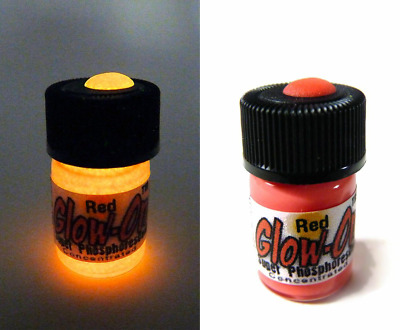 Glow-On RED Glow Paint For Gun Sights, Fishing Lures, 2.3 ml  Vial, Bright!