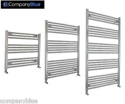 700mm Wide Bathroom Heated Towel Rail Radiator Chrome Straight Curved Bathroom