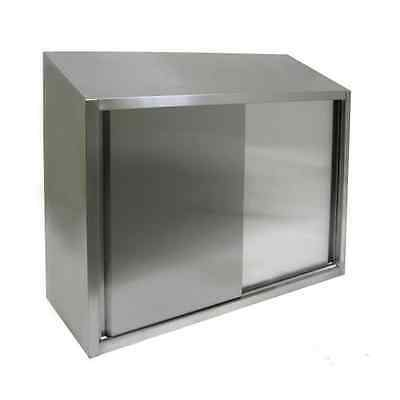 15x48x39H Stainless Steel Wall Cabinet with Sliding Doors