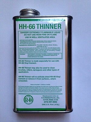 1 US Pint (473ml) Thinner for HH66 HH-66 Vinyl Adhesive Glue Cement Canvas TENT
