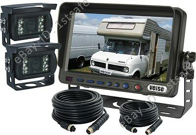 VEISE 7 INCH REAR VIEW BACKUP REVERSE CAMERA SYSTEM CCTV FOR RV MOTORHOME CAMPER