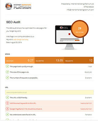 SEO Audit of your website - professional review and analysis of your website