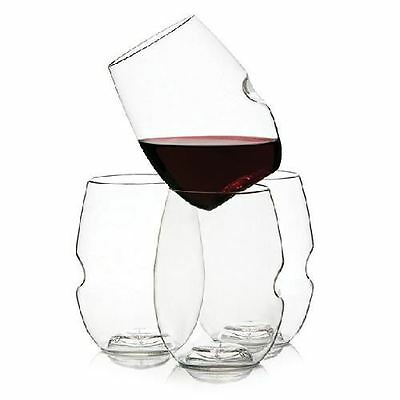 Classic Series Wine Cocktail Glasses 4 Pack Shatterproof 12oz By Govino