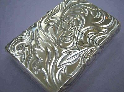 Zippo Lighter Arabesque 5 Sides V Etching Silver Best Buy From Japan New
