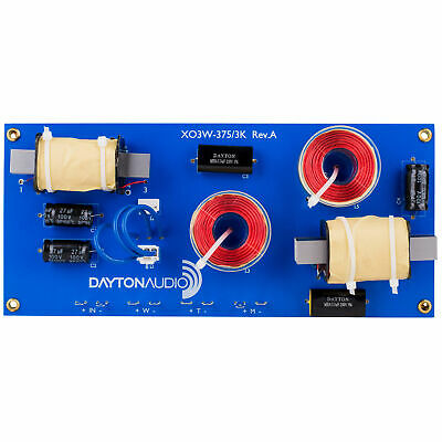 Dayton Audio XO3W-375/3K 3-Way Crossover 375/3,000 Hz