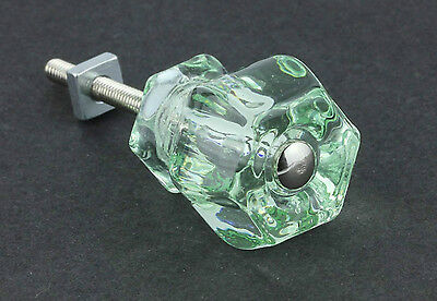 """12 Pack Antique 1 1/4"""" Style Old Coke Bottle Green Depression Glass Knobs"""