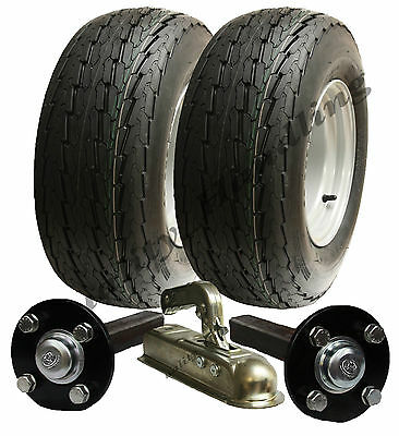 High speed trailer kit 20.5 x 8-10 road legal wheels + hub & stub axle, hitch