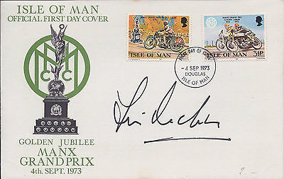 Jim REDMAN Signed Autograph FDC First Day Cover COA AFTAL IOM TT Rider Racing