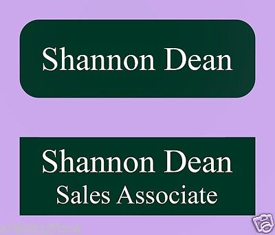 2 1X3 Personalized Plastic Lasered Name Tag Badge 31 Colors Magnet/Pin/Clip Back