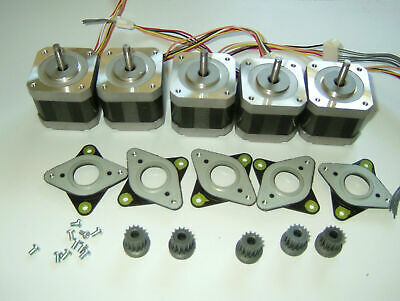 Lot of 5 NEMA 17 Stepper Motor GT3 Minebea Mill Robot RepRap Makerbot Prusa S5