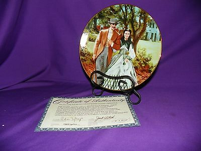 GONE WITH THE WIND COLLECTOR PLATE HOME TO TARA GEORGE FINE CHINA