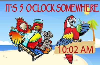 IT'S 5  O'CLOCK SOMEWHERE PARTY BIRDS 3'x5' FEET flag / banner COCKTAIL
