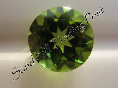 Natural 7mm Loose Round Cut 1.30ct Peridot AAA Quality