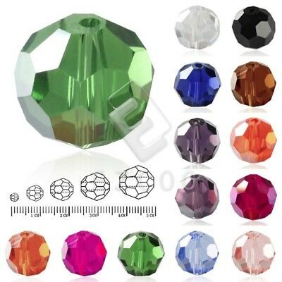 100pcs 3x3mm Loose Faceted Clear Glass Crystal Round DIY Beads Wholesale 0.7mm