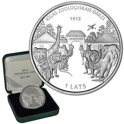 """Lettland """"100 Jahre Zoo in Riga"""" 1 Lats 2012 - Silber PP in Etui"""