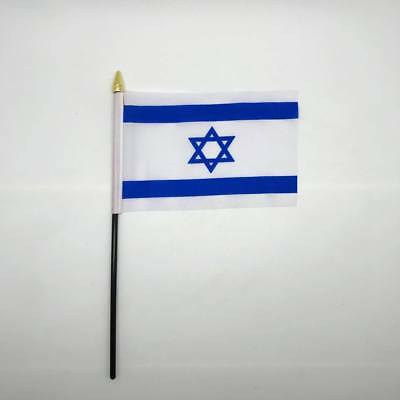 Table Desk Top Flag ISRAEL Flags Polyester David Star Without Base UK Seller
