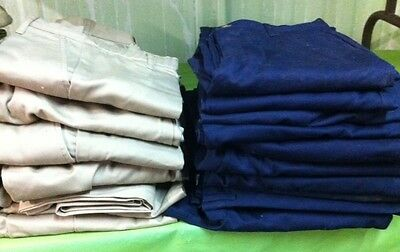 Lot 2 Pair New Lands End School Uniform Pants Navy Blue Khaki Tan Pick Size