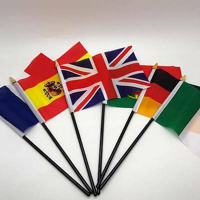 Table Desk Top Flag EUROPE Flags ALL COUNTRIES Without Base