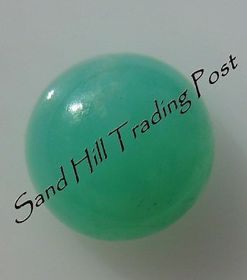Natural 5mm Round Cut .86ct Chrysoprase Cabochon AAA