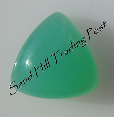 Natural 6mm Trillion .93ct Chrysoprase Cabochon AAA