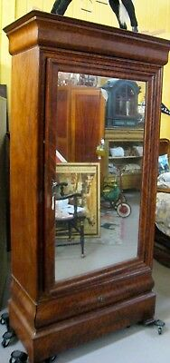 Antique Louis Philippe Mirrored Armoire/Wardrobe | 19th century