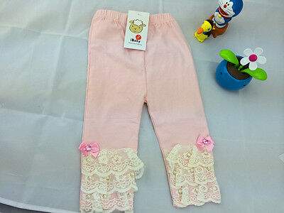 Baby Girl Lovely Leggings Infant Leggings/Lace and Pearl/ 0-36 Months