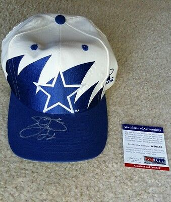 Emmitt Smith Signed Vintage Autographed Dallas Cowboys Hat PSA/DNA