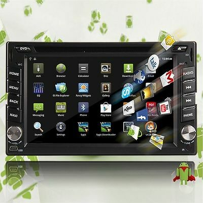 """Android 6.2"""" 2 Din Car GPS Nav DVD Player Bluetooth In Dash Stereo Radio 3G Wifi"""