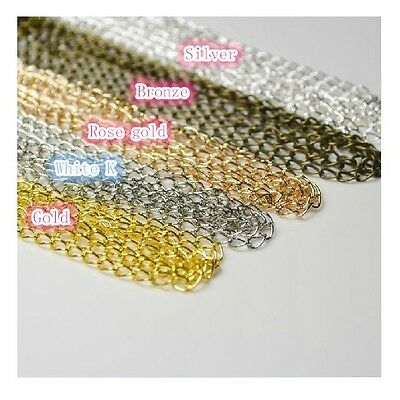 New Extension Chain Tail Links Jewelry Findings necklace Tail 5 colors  10ft