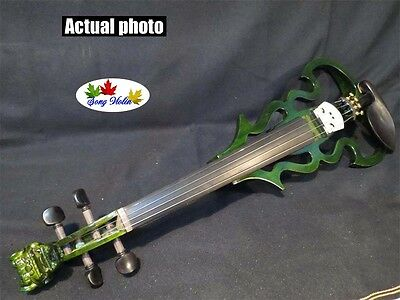 New Song streamline carved dragon scroll 4/4 electric violin,solid wood #9037