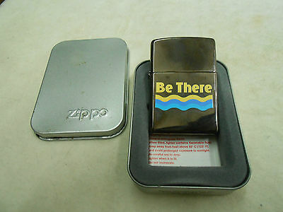 Never Used Zippo Be There Black Ice Lighter In Zippo Metal Case
