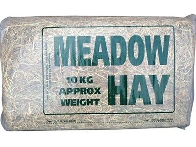 Pet Hay - 10KG Bale of High Quality Meadow Hay for Rabbits Guinea Pigs Pets