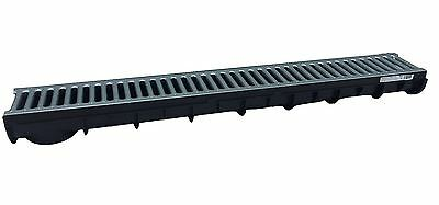 NEW!!! PACK 3 HEAVY DUTY PLASTIC DRAINAGE CHANNEL WITH Metal GRATING MADE IN UK
