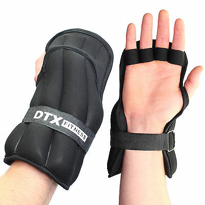 DTX Fitness Weighted Gloves Shadow Boxing/Martial Arts/MMA Hand/Wrist Weights