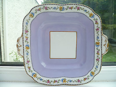 Stunning Vintage Aynsley China Cake or Sandwich Plate Lilac 4176