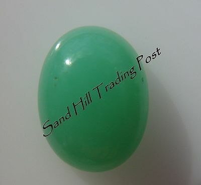 Natural 12x10 Oval Cut 5.06ct Chrysoprase Cabochon AAA