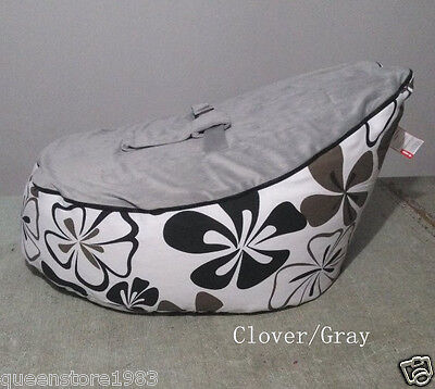 Canvas Gray cover Baby infant Bean Bag Snuggle Bed Portable Seat No Filling