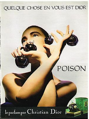 "Publicité Advertising 1985 Parfum ""Poison"" par Christian Dior"