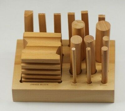 Swage block set wood dapping doming shaping punches forming tool jewellery craft