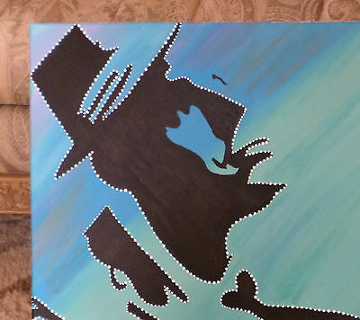 One Of A Kind Frank Sinatra Silhouette Hand Painting Picture Old Blue Eyes