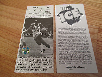 Game 27 SAM JONES Last Season BOSTON CELTICS 3/1/95 TICKET Boston Garden