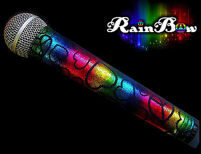 SPARKLE MICROPHONE COVER (RAINBOW)  BLING MICROPHONE COVER FOR CORDLESS MIC