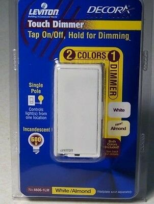 Decora True Touch Single Pole  Lighted Light Dimmer Switch Almond