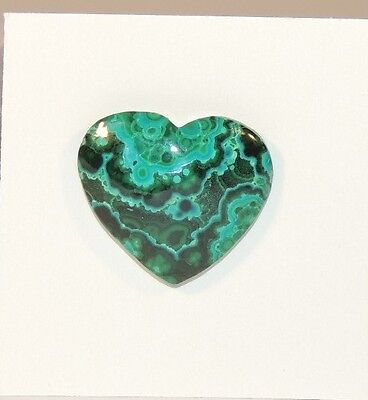 Malachite and Chrysocolla Heart Cabochon 22x19mm (7574)