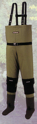 New Men Breathable Stocking Foot Fishing/Hunting Wader Size Large Olive Green