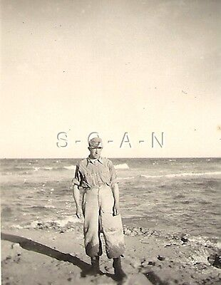 WWII German RP- Soldier- DAK Tropical Uniform- Africa- Libya- Wet Pants- Ocean